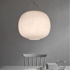Suspension Round glass lamp en laiton au design vintage par Nordal