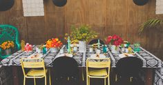 Mexican Fiesta Themed Wedding | Table Centrepieces | Tablescape