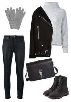 """Untitled #1827"" by kellawear on Polyvore featuring Yves Saint Laurent, Le Kasha, Acne Studios, UGG and L.K.Bennett"