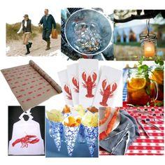Lobster bake - mason jar drinks, paper cones w/chips & fries Lobster Fest, Lobster Boil, Lobster Dinner, Rock Lobster, Crab And Lobster, Seafood Boil, Lobster Bake Party, Crab Party, Hummer