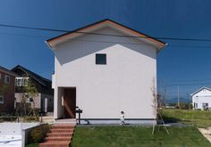 Minimalist Architecture, Facade, Exterior, Mansions, Bottle Lamps, House Styles, Outdoor Decor, Small Houses, Japan
