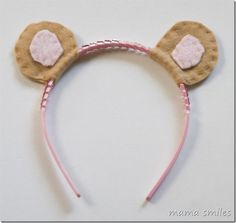 DIY dress-up animal ears tutorial. These are easy to make, cute, and they stand up straight!