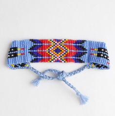 Aztec Beaded Tie Bracelet