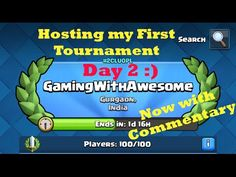 My first ever CLASH ROYALE Gameplay Commentary | CR Tournament LIVE Batt...