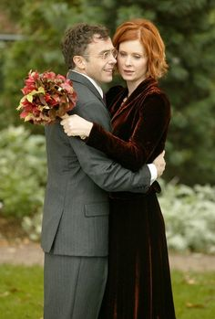 "The wedding of Steve (David Eigenberg) and Miranda (Cynthia Nixon) on ""Sex and the City"" (2004)."