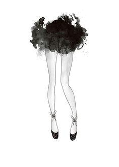 Fashion-plakat, ballerina.   Plakater og posters med illustrasjoner.