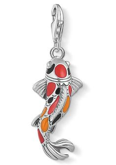 "THOMAS SABO Charm-Einhänger »Charm-Anhänger ""Koi"", 1702-664-7« für 69,00€. Fischförmiges Schmuckstück zum Verlieben bei OTTO Thomas Sabo, Koi, Charms, Lucky Charm, Belly Button Rings, Jewlery, Swarovski, Beads, Pendant"