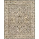 Found it at Wayfair - Heritage Beige Floral Area Rug
