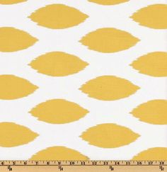 Fabric by the Yard Yellow Chaz Premier Prints Chipper via Etsy