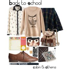 BTS: Cabin 6: Athena by missgranger on Polyvore featuring Chicwish, H&M, UNIONBAY, Accessorize and Forever 21
