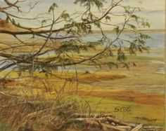 Behind Comox Spit – Oil on Canvas - Paintings by Stephen Cole