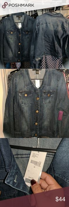 Plus size jean jacket NOT a harvey or jaxon Why pay $100 for a jean jacket?!?  I have two available, nwt from Lane Bryant.  Super cute and affordable.  Don't let the hype Rob your wallet. Lane Bryant Jackets & Coats Jean Jackets