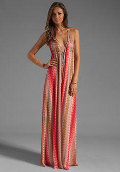 KARINA GRIMALDI St. Croix Maxi Dress in Pink Zig Zag at Revolve Clothing - Free Shipping!
