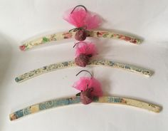 Shabby chic vintage style coat-hangers handmade by DottyCottage1