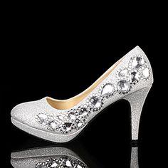 2015 bridal shoes silver crystal shoes wedding shoes high-heeled platform rhinestone GENUINE LEATHER lining pumps (heel 9.5cm)