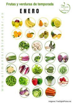 Frutas y verduras de temporada para enero