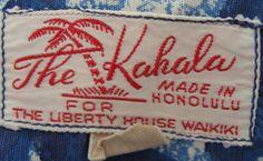 50s The Kahala Vintage Hawaiian Shirt Mens - Loop - Liberty House - Sea Blue - Aloha - Honolulu Waikiki - L. $79.00, via Etsy.