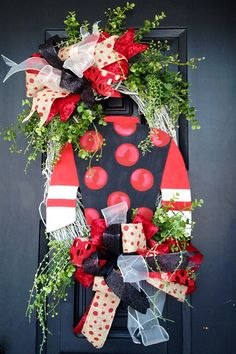 Jockey silk Kentucky derby wreath by shutthefrontdoor2 on Etsy