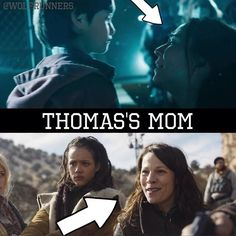 Thomas and his mom? New Scorch Trials Trailer 7/23/15 WTW! That's NOT. IN THE BOOOOOOK!!!! I KNEW IT I SAW IT WITH MY BEST FRIEND AND I WAS SAID IT WAS THOMAS AND HIS MOM AND HE WAS LIKE NO THAT ISMT IN THE BOOK! What's funny is that he hasn't read the book I just talk about it all the time so he knows the whole story