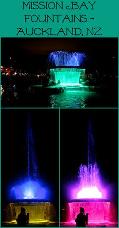 Colorful fountain in Mission Bay, Auckland, New Zealand. For photos visit Albom Adventures