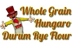 WHOLE GRAIN HUNGARO DURUM RYE FLOUR: The whole grain Hungaro durum rye flour contains all of the ingredients of the grain. Thanks to its high fibre, mineral and vitamin content it largely contributes to healthy nutrition. The higher fiber content helps digestion and reduces the frequency of different tumor developments. Its high E vitamin content takes part in the prevention of the most various cancerous diseases... Rye Grain, Graham Flour, Types Of Flour, Rye Flour, Grains, Content, High Fibre, Mineral, Fiber