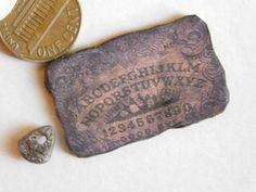 OoAK 1:12 artisan Miniature OUIJA BOARD witch haunted DOLLHOUSE seance by Mitzi