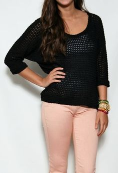 Quarter Sleeve Knit Top #Fall #Sweater