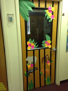 Zoo themed classroom door