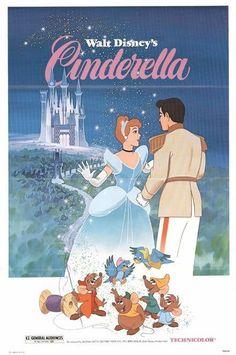 Cinderella Movie Poster ( of Posters Disney Vintage, Vintage Cartoon, Vintage Comics, Vintage Disneyland, Vintage Horror, Iconic Movie Posters, Disney Movie Posters, Cartoon Posters, Disney Wallpaper