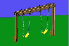 Get your kids playing outdoor by building a backyard swing set. Here's a collection of 34 free DIY swing set plans for you to get some ideas. Backyard Swing Sets, Diy Swing, Backyard Ideas For Small Yards, Pergola Swing, Diy Pergola, Fun Backyard, Pergola Plans, Backyard Layout, Pergola Kits