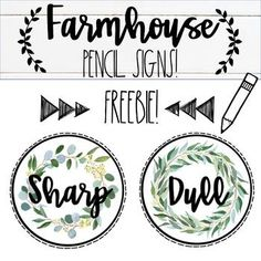 Enjoy a Farmhouse Pencil Sign FREEBIE! This product goes along with my Farmhouse Decor Bundle! Be sure to check it out!