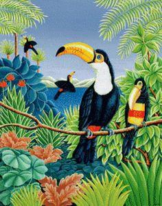 птички - Схемы вышивки - 1светлана37 - Авторы - Портал «Вышивка крестом»