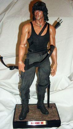 """Muñeca o figura de acción con increíble parecido Silvester Stallone as """"Rambo"""" Gi Joe, Action Toys, Action Figures, Figuarts, Figurines D'action, Silvester Stallone, Rambo, Anatomy Models, The Expendables"""