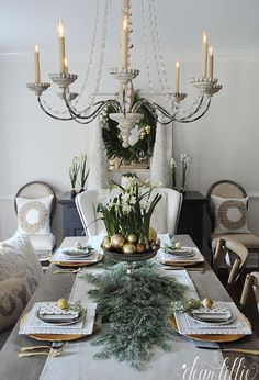 Farmhouse Holiday Series - Our Christmas Dining Room and a $100 HomeGoods Gift Card Giveaway
