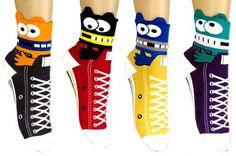 JJMax Women's Monsters and Ribbons Convertible Sneaker Anklet Socks Set JJMax http://www.amazon.com/dp/B00K3B6VQ8/ref=cm_sw_r_pi_dp_xJ-Jub1WYR7QW