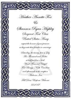 Celtic wedding invitations https://www.etsy.com/listing/151509748/celtic-knot-design-wedding-invitations #IrishWedding #CelticKnot