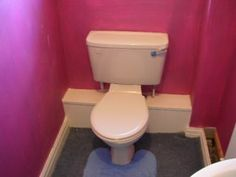 Cover Up For Pipes Behind The Toilet With Access For Water