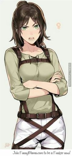 Genderbent Eren from Shingeki no Kyojin (Attack on Titan)