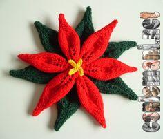 Impara e crea con i nostri progetti gratuiti! Ecco la Stella di Natale a maglia. Scopri come farla! #gratis #conlemani