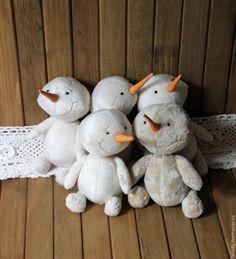 Шьем Снеговика Плюшика — родственника Тедди - Ярмарка Мастеров - ручная работа, handmade