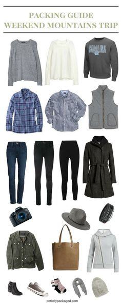 Packing Guide Helping You Pick What to Wear for a Weekend Mountains Trip #travel