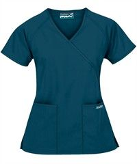 Butter Soft Mock Wrap Scrub Tops, Medical Scrubs & Nursing Uniforms at Uniform Advantage. Dental Uniforms, Work Uniforms, Scrubs Outfit, Scrubs Uniform, Medical Scrubs, Nursing Scrubs, Tall Women, Scrub Tops, Outfits