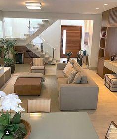 Elegant contemporary living room decor and makeover Home Living Room, Living Room Designs, Living Room Decor, Bedroom Decor, Home Decor Furniture, Modern House Design, Cheap Home Decor, Home Interior Design, Nordic Interior