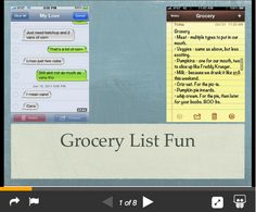 Grocery list fun  http://www.foodsniffr.com/blog/grocery-list-fun/     Fun grocery lists  from foodsniffr     Check out some of these hilarious grocery lists. See, building a grocery list need not be a boring chore!        How to eat clean and healthy in a dirty world - get FoodSniffr Monthly Plan - healthy grocery list app on steroids! Eating