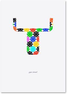 Daniel Nebot. Que vivan!  Cartel de participación en la exposición colectiva 'Vivan los toros. Carteles para la reflexión' ©2010
