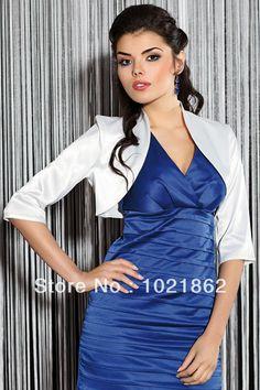 Custom Made Wedding Satin Stole Jacket Bolero Shrug 3/4 Sleeve (We Need Your Bust,Soulder and Shoulder,Arm Hole) AL0073 $14.50