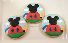 Mickey Mouse clubhouse cookies www.ladybug650.etsy.com