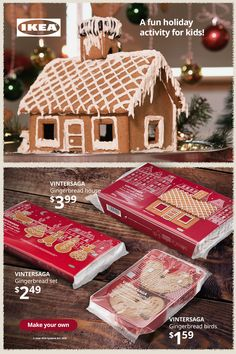 Need an awesome holiday activity for the kids? Making a gingerbread house is a great way to make your own holiday décor and to get creative with the kids! Find everything you need to make a gingerbread house and build your own winter wonderland. Holiday Treats, Holiday Fun, Holiday Decor, Holiday Activities, Activities For Kids, Make A Gingerbread House, Save My Money, Build Your Own, Winter Holidays