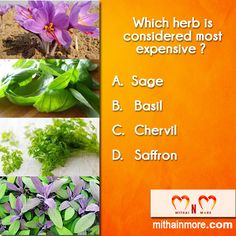 Take part in this amazing and share you answer quickly below, whether A or B or C or D. Food Flavoring, Garage Door Repair, Medicine, Perfume, Herbs, Amazing, Plants, Outfits, Suits