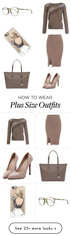 """""""Başlıksız #1068"""" by cevyilmaz on Polyvore featuring Burberry, WithChic, MICHAEL Michael Kors, Casetify and Tom Ford"""